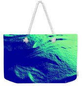 Green Snow Dune Abstract Weekender Tote Bag