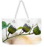 Green Spiky Wild Flowers Weekender Tote Bag