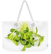 Green Sunflower Sprouts Weekender Tote Bag by Elena Elisseeva