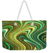 Green Swirls Mind Bend Weekender Tote Bag