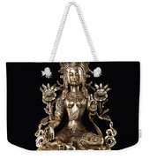 Green Tara Buddhist Goddess Statue Weekender Tote Bag
