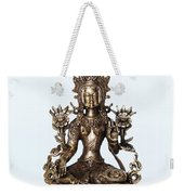 Green Tara Goddess Statue Weekender Tote Bag