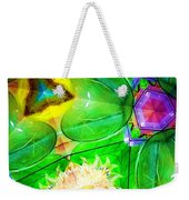 Green Thing 2 Abstract Weekender Tote Bag