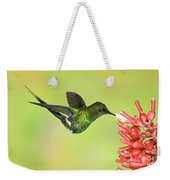 Green Thorntail Hummingbird Weekender Tote Bag