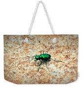 Green Tiger Beetle Weekender Tote Bag