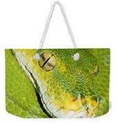 Green Tree Python #2 Weekender Tote Bag