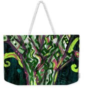 Green Tree With Pink Watercolor Weekender Tote Bag