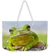 Green Treefrog Weekender Tote Bag