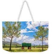 Green Wagon And Vineyard Weekender Tote Bag
