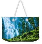 Green Waterfall Weekender Tote Bag