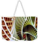 Green Weave Weekender Tote Bag