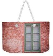Green Window On Red Wall. Weekender Tote Bag