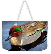 Green Winged Teal  Duck  Weekender Tote Bag