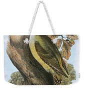 Green Woodpecker Weekender Tote Bag