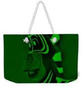 Green Zebra Weekender Tote Bag