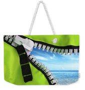 Green Zipper Weekender Tote Bag