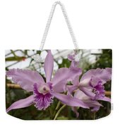Greenhouse Ruffly Orchids Weekender Tote Bag