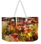 Greenhouse - The Greenhouse And The Garden Weekender Tote Bag by Mike Savad