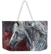 Grey Andalusian Horse Oil Painting 2013 11 26 Weekender Tote Bag