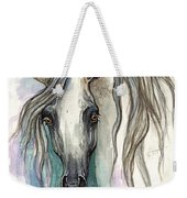 Grey Arabian Horse 2013 11 26 Weekender Tote Bag