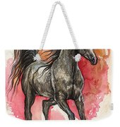 Grey Arabian Horse 2014 01 12 Weekender Tote Bag