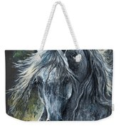 Grey Arabian Horse Oil Painting 2 Weekender Tote Bag