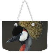 Grey Crowned Crane Portrait Weekender Tote Bag
