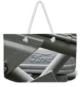 Grey Ford Tractor Logo Weekender Tote Bag