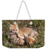 Grey Fox Kitts At Play Weekender Tote Bag