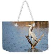 Grey Heron  Ardea Cinerea Weekender Tote Bag