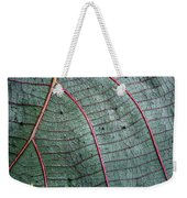 Grey Leaf With Purple Veins 2 Weekender Tote Bag