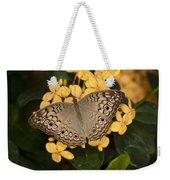 Grey Pansy Butterfly Arizona Weekender Tote Bag