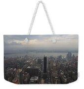 Grey Sky Over Manhattan Weekender Tote Bag
