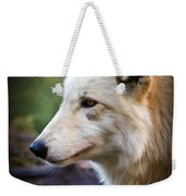 Grey Wolf Painting Weekender Tote Bag