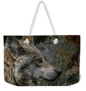 Grey Wolf Profile 3 Weekender Tote Bag