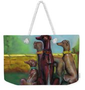 Greyhound Figurines Weekender Tote Bag