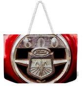Grill Logo Detail - 1950s-vintage Ford 601 Workmaster Tractor Weekender Tote Bag