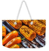 Grilling Corn And Peppers Weekender Tote Bag