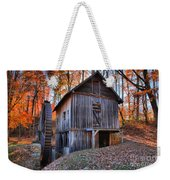 Grist Mill Under Fall Foliage Weekender Tote Bag