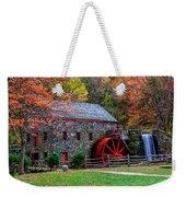 Grist Mill In Autumn Weekender Tote Bag