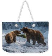 Grizzlies Fighting Weekender Tote Bag