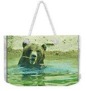 Grizzly Bath Weekender Tote Bag