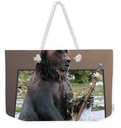 Grizzly Bear 6 Out Of Bounds Weekender Tote Bag by Thomas Woolworth