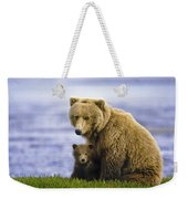 Grizzly Bear And Cub Weekender Tote Bag