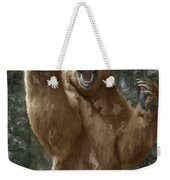 Grizzly Bear Attack On The Trail Weekender Tote Bag