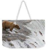 Grizzly Bear Fishing For Sockeye Salmon Weekender Tote Bag