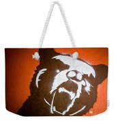 Grizzly Bear Graffiti Weekender Tote Bag by Edward Fielding