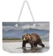 Grizzly Bear In River Katmai Np Alaska Weekender Tote Bag