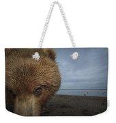 Grizzly Bear In Tidal Flats Alaska Weekender Tote Bag