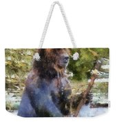 Grizzly Bear Photo Art 02 Weekender Tote Bag